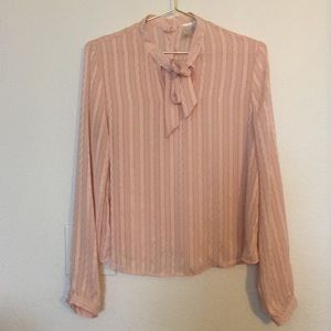 F21 | Long Sleeve Blouse Front Tie